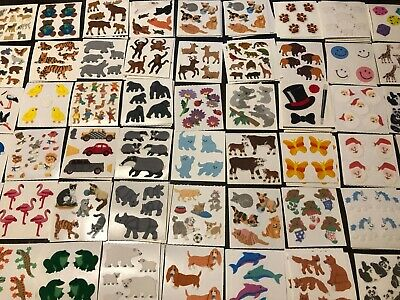 "Choose One Vintage Opal Pearly MOP Sandylion Sticker 2x2/"" Module Animals Holiday"