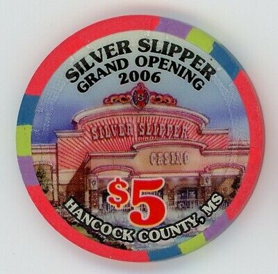 Silver Slipper Grand Opening $5 casino chip Mississippi