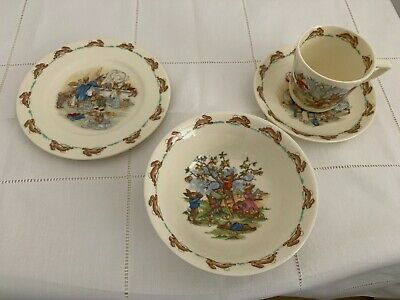 Royal Doulton Bunnykins Pottery Cup & Saucer, Bowl and Plate