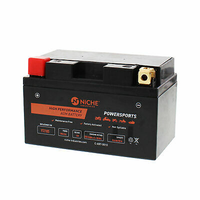 Maxam 250 /& more NICHE AGM Battery w//charger for YTZ10S fits Yamaha M 1000