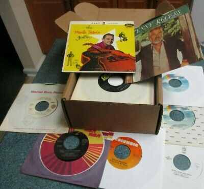 "COUNTRY / WESTERN 1970s-1980s Lot of (50) 45's Records Jukebox 7"" 45 RPM Vinyl"