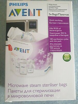 Philips Avent Microwave Sterilizing Bags, 5 Pack Philips Avent Free Shipping!