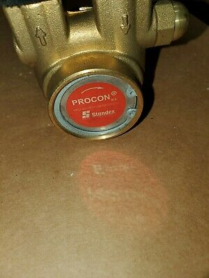 """PROCON PUMP 102A070F11AA BRASS ROTARY VANE 125GPH 250PSI 3/8"""" IN/OUT Beer Soda"""