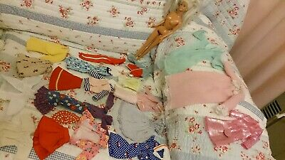 23-pc Vintage 1966 Barbie + Big Lots of CLOTHES Mixed LOT