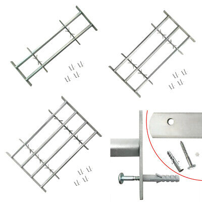 Adjustable Security Grille for Windows Safe Protective 2/3/4 Crossbar Steel New