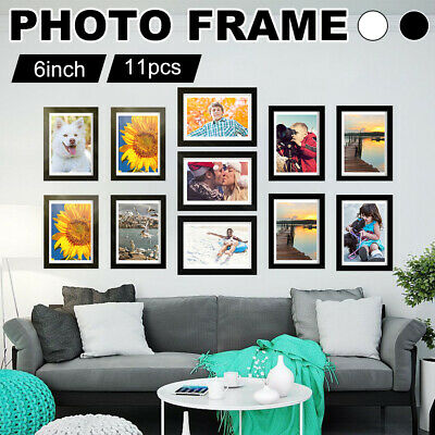 Wall Mounted 11 Photos Large Multi Picture Frame Collage Aperture Decor Memories
