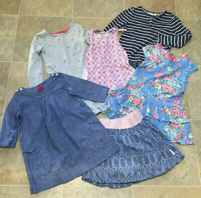 Joules/Fat Face Girls 6 Item (Dresses, Skirt & Tops) Bundle, Age 6 In VGC