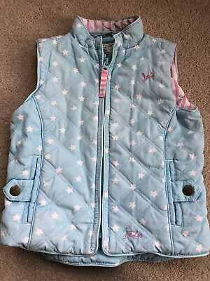 Girls Joules Gilet / Bodywarmer Age 3 Great Conditon