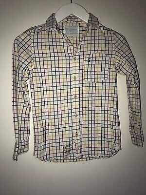 Girls Joules Ernest Checked Country Shirt 11-12yrs Blue Mustard Pink Soft Cotton