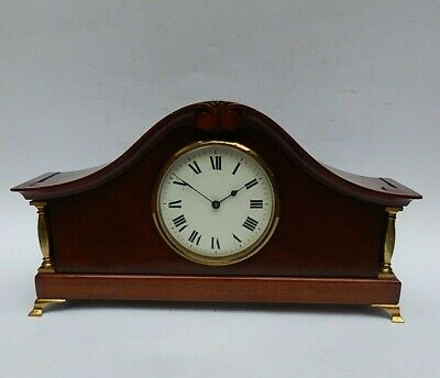 Superb French 8 day Mahogany Cased Late Victorian Mantel Clock. Working 3059