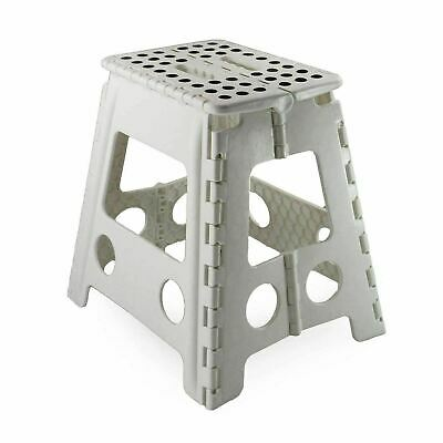 Large Multi Purpose Fold Step Stool Plastic Home Kitchen Foldable Easy Assorted