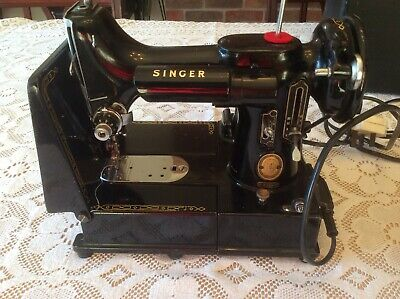 Vintage Singer 222k Freearm Featherweight Sewing Machine EK634470 1955.