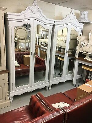 2x Rococo French Style Wardrobes Vintage Style Armoire,Furniture Showroom Kent