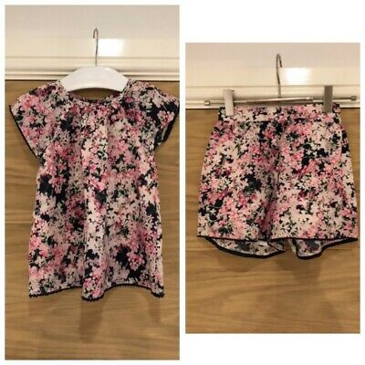 Gap Girls Pink Floral Shorts Top Combo Set Age 5