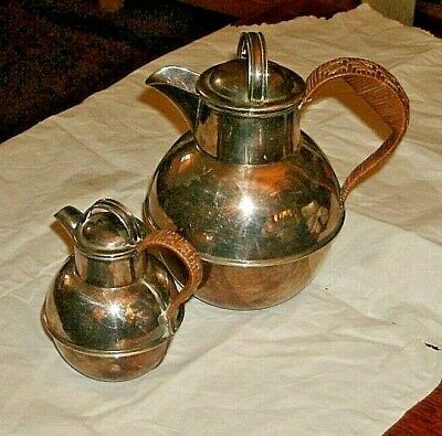 Arts & Crafts/Pair Epns Coffee Pots Th Winder & Co/Windermere/1.5 & 0.5 Pints/