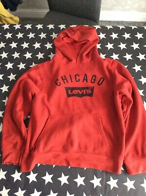 Boys/girls levis red sweatshirt size L - age 12-13