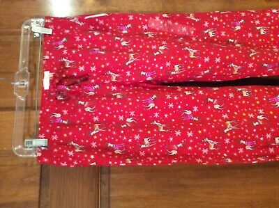 New Gap Womens  Love GapBody Flannel Pajama Lounge Pants Red Deer XS $59.99 NWT