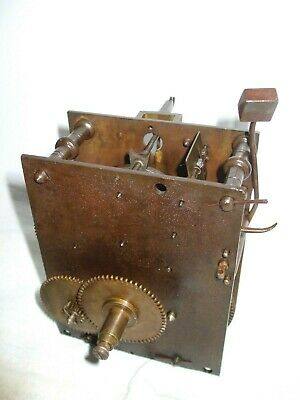 Antique 30 hour longcase/grandfather clock movement