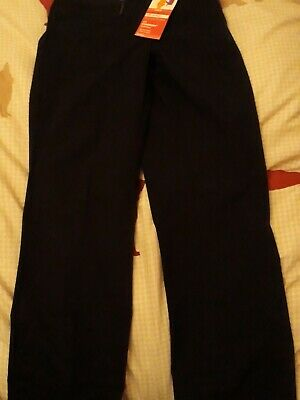BNWT Marks and spencer Girls Navy Stormwear School Trousers Age 9