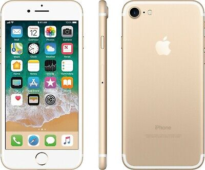 UNLOCKED Apple iPhone 7 Gold 256GB 4G LTE GSM Video Camera Smart Cell Phone 9/10