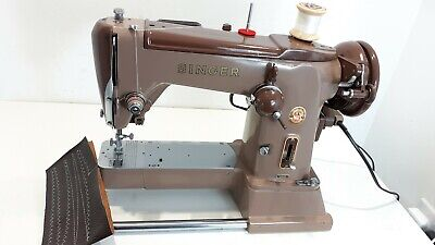 AUTOMATIC ZIGZAG Singer 320K Elec Sewing Machine,SERVICED, PAT TEST,sews LEATHER