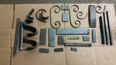 """8+LBS!!  Blacksmith Anvil Forge scrolls projects 1/4"""" -1"""" steel Solid bar stock"""