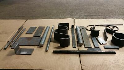 STEEL 8+ LBS Blacksmith Anvil-Forging metal iron Misc. stock  round-rings-scroll