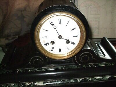 Antique French 8 day marble mantel clock