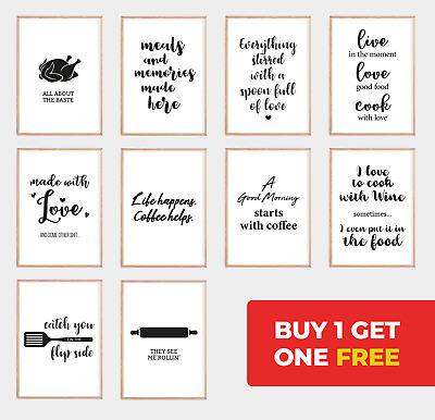 Kitchen Prints, Funny Quote Cooking Food Posters, Art, Home Decor Gifts, Wall K3