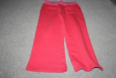 Bnwt Girls Red Jogging Bottoms Age 4-5 Years
