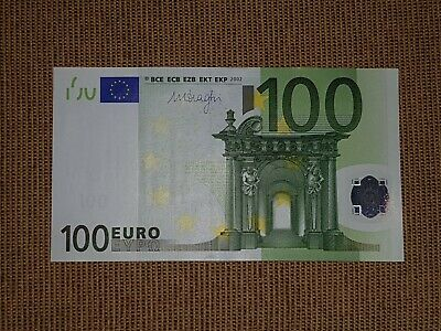 ISSUE UNC BANKNOTE COMBINE FOR FREE!!! EUROPE 100 EURO € 2002 GERMANY X