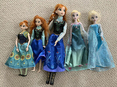 Anna And Elsa Doll Bundle, Frozen And Frozen Fever, The Disney Store.