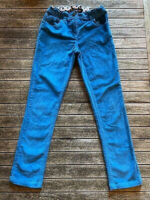 Mini Boden Girls Blue Needlecord Jeans Age 10 New Without Tags