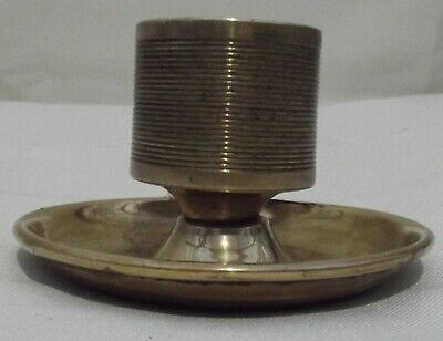 Antique Brass Match Striker Ashtray