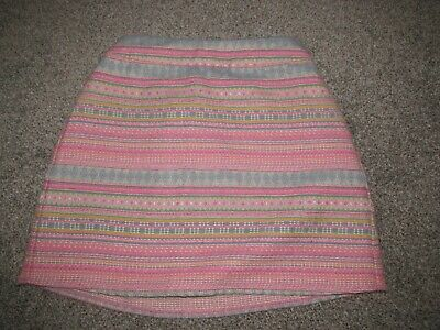 Girls's George pink blue stripe skirt size 9 - 10 years