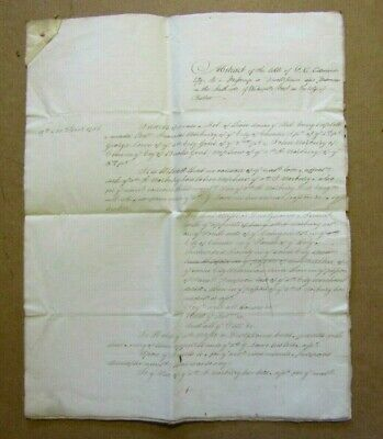 1755 to 1805 5 Page Vellum Conveyance Indenture - Chester