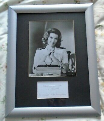 007 James Bond Miss Moneypenny Lois Maxwell Framed Bw 10X8 Photo Signed Card