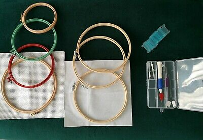Embroidery Hoops + Punch Needle