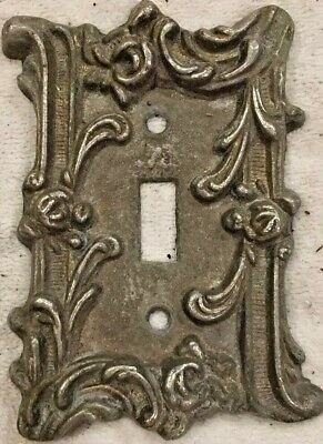 American Tack and Hardware Metal Single Switch Cover Plate Art Deco Scrolls 60T