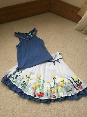 Beautiful Girls Two Piece , Top & Skirt From Monsoon, Age: 4-6 Years