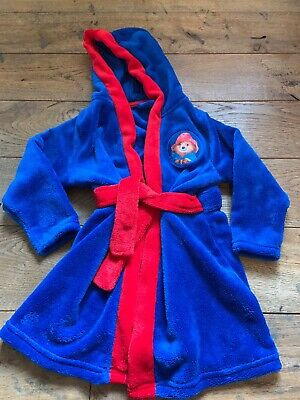 Paddington Bear Dressing Gown Fleece Robe Age 3-4