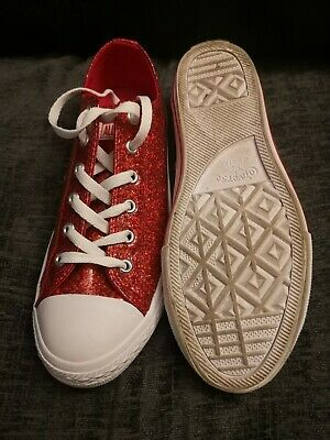Converse Size 5 Glittery Red