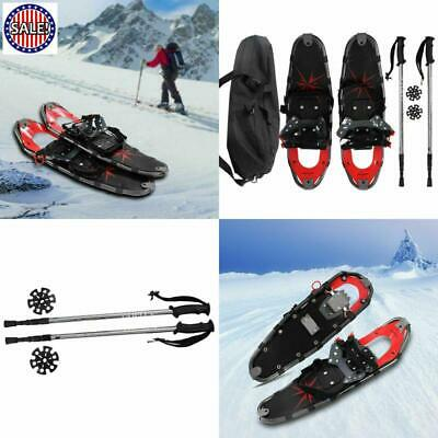 TOP QUALITY All Terrain Sports Snowshoes w Walking Poles & Free Carrying Bag NEW