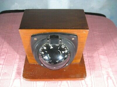 Ritchie HV-76  Black Bulkhead Mount,  Magnetic  Marine  Compass, never used.