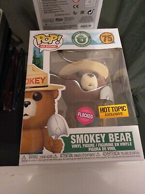Funko Pop Ad Icons Flocked Smokey Bear Hot Topic Exclusive In Hand Free Shipping