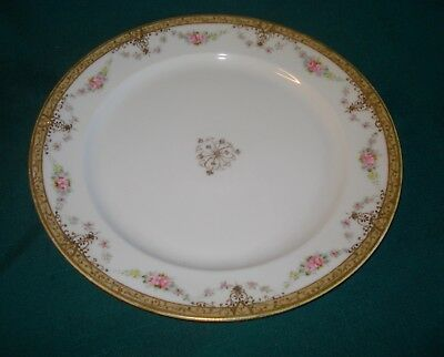 """Beautiful Vintage NIPPON Plate/Platter -Double Pink Roses/Heavy Gold Accents 12"""""""