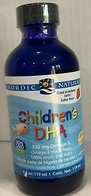 Nordic Naturals Children's DHA Healthy Omega Cognitive Development Immune Strwby