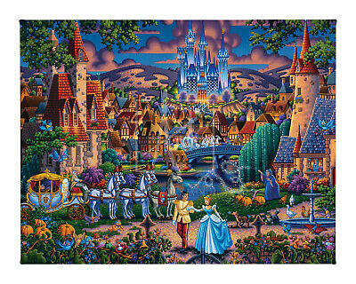 Disney Dowdle Cinderella's Enchanted Evening 11 x 14 Gallery Wrapped Canvas