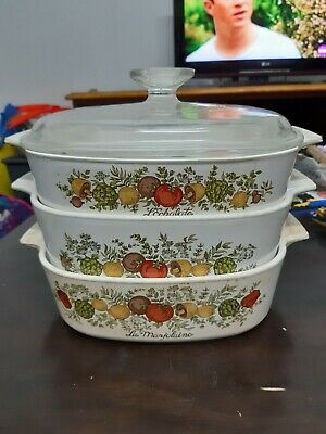 Vintage corning ware Spice Of Life (70s)3 Piece Set