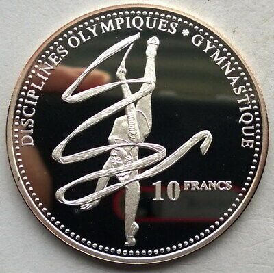 Congo 2000 Ribbon Dance 10 Francs Silver Coin,Proof